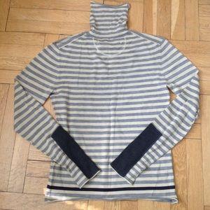 $600 YIGAL AZROUEL dove stripe WOOL sweater ** M